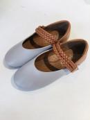 Giày bb bé gái quai đan kép ken hs785 134 grey