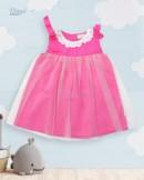 Đầm vải hồng sen vingo 20G21