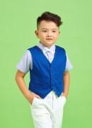 Áo gile xanh bích bé trai
