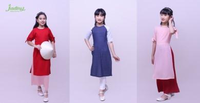 Các kiểu áo dài đẹp cho bé gái