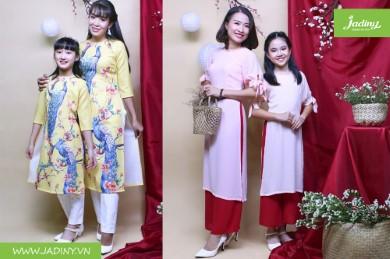 Cách chọn áo dài cách tân cho mẹ và bé phù hợp