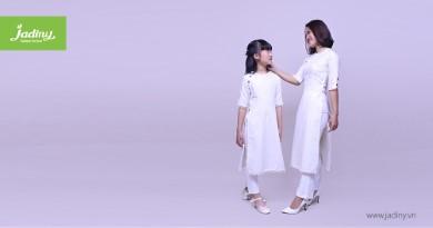 Áo dài cách tân cho mẹ và bé – xu hướng thời trang hiện đại
