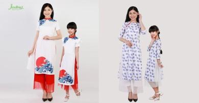 Thiết kế áo dài cách tân mới cho mẹ và bé vui mùa lễ hội