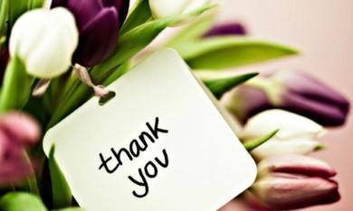Chương trình thay lời cảm ơn