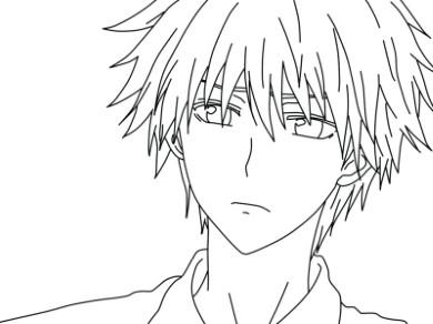 Tranh tô màu anime boy vô cùng cute