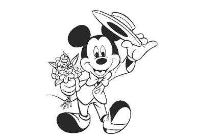Tổng hợp những tranh tô màu chú chuột Mickey vô cùng đáng yêu