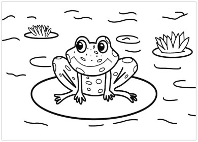 Tranh tô màu con ếch, những chú ếch rất dễ thương và ngộ nghĩnh