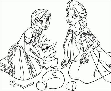 Những tranh tô màu anna đẹp nhất cho các bé gái