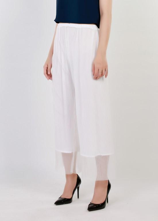Quần culottes trắng