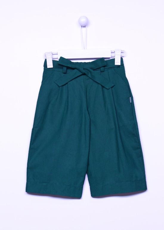Quần culottes linen xanh rêu