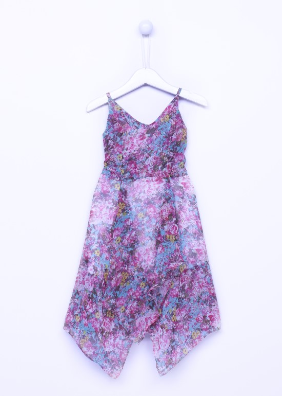 Đầm bé gái maxi hai dây nhiều hoa bé gái