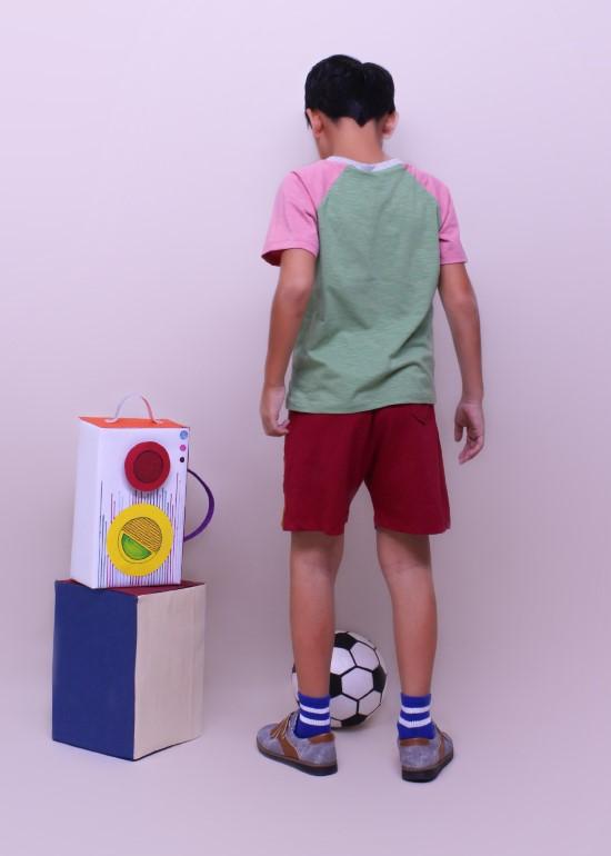 Áo thun bé trai ráp lăng xanh đậu