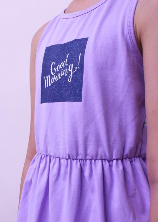 Đầm bé gái khoét lưng thun tím cà