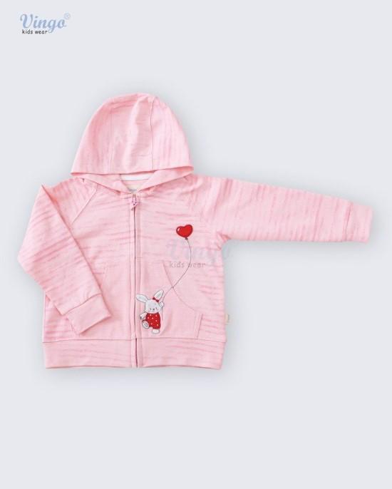 Áo khoác bé gái màu hồng vingo - 20G17