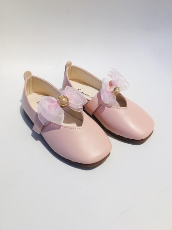 Giày bít bé gái nơ trung H1