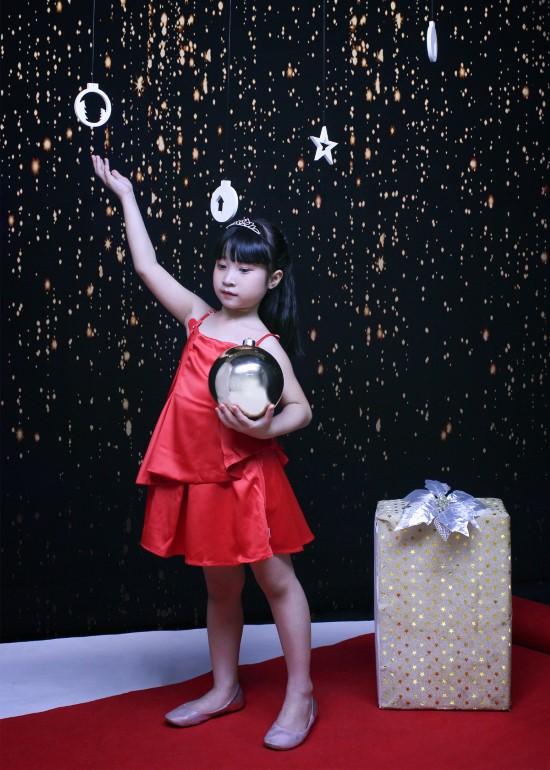 Đầm peplum m1 đỏ bé gái