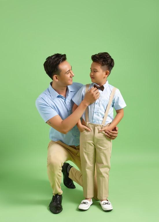 áo sơ mi bố và con