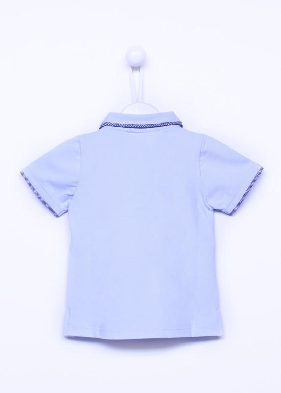 Áo CS xanh biển viền bé gái
