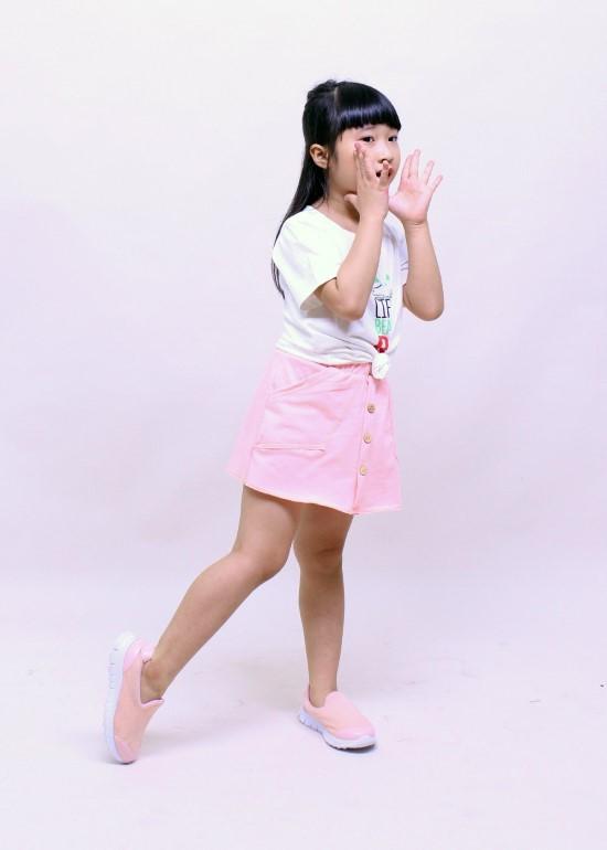 Quần giả váy bé gái hồng