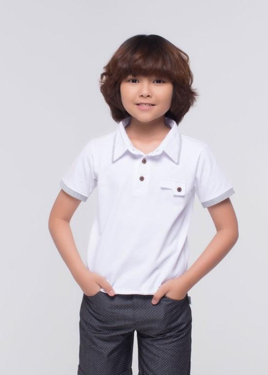 Áo CS trắng phối xám