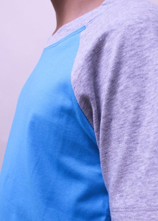 Áo thun bé trai ráp lăng xanh đậm