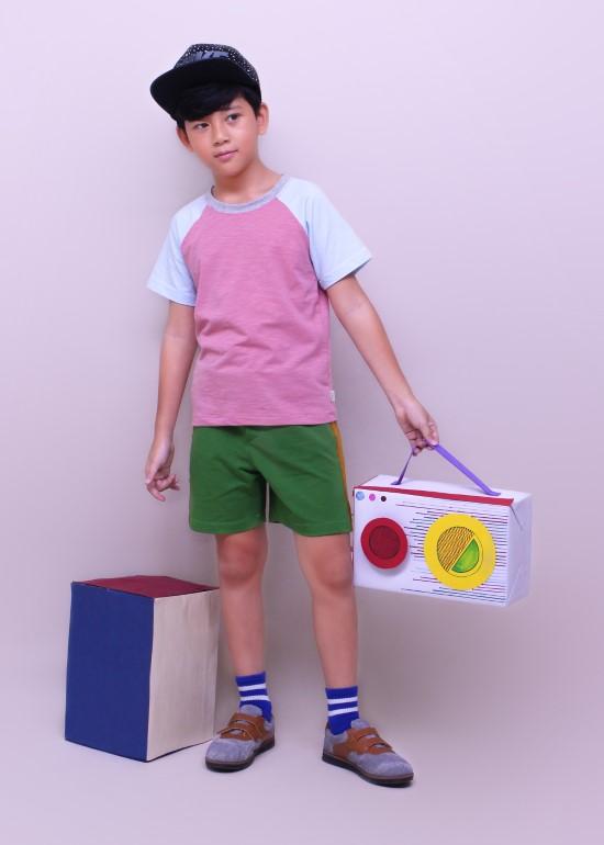 Set đồ trẻ em quần short thun và áo thun ráp lăng bé trai