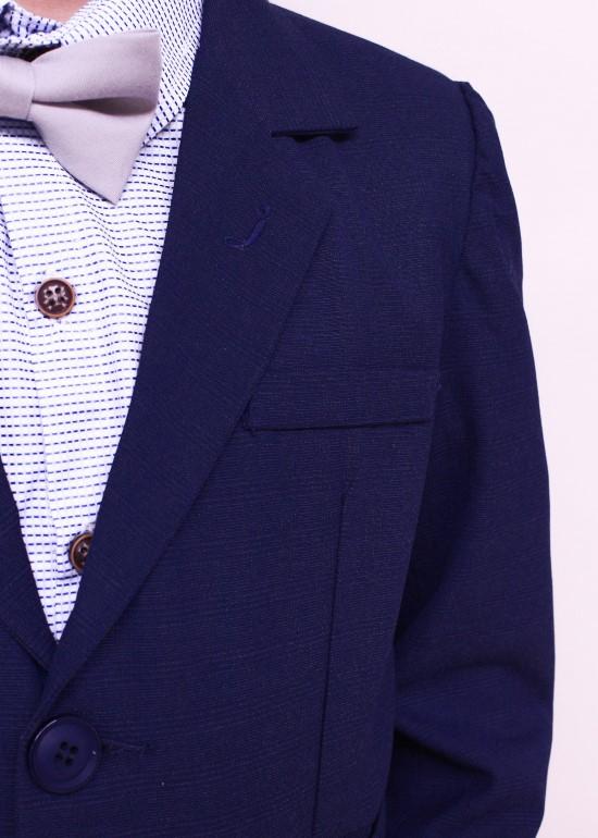 Áo vest caro xanh đen đậm bé trai