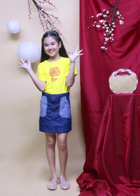 Áo thun vàng hạnh phúc cho bé