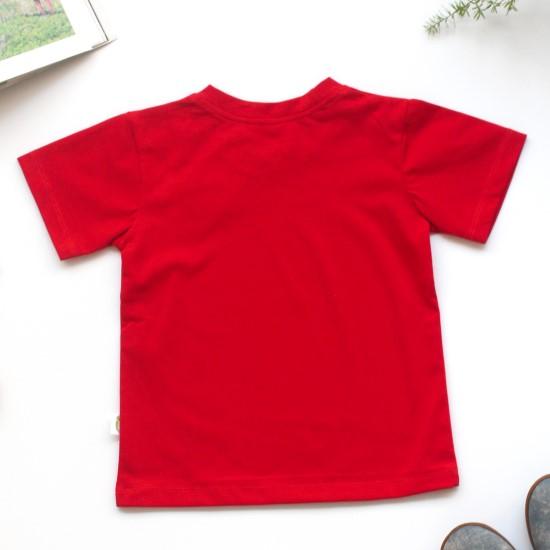 Áo thun cho bé đỏ may mắn