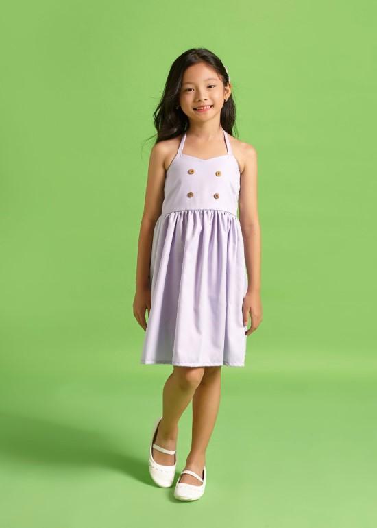 Đầm yếm tím cà