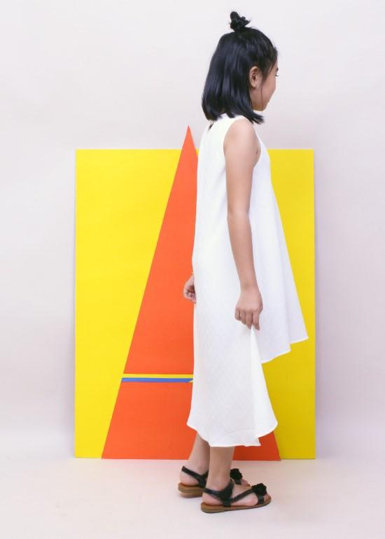 Đầm maxi mullet trắng