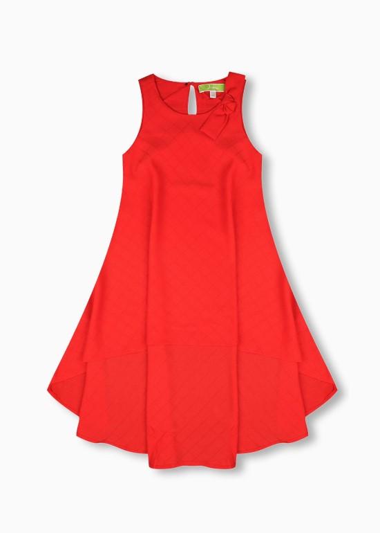 Đầm maxi mullet đỏ bé gái