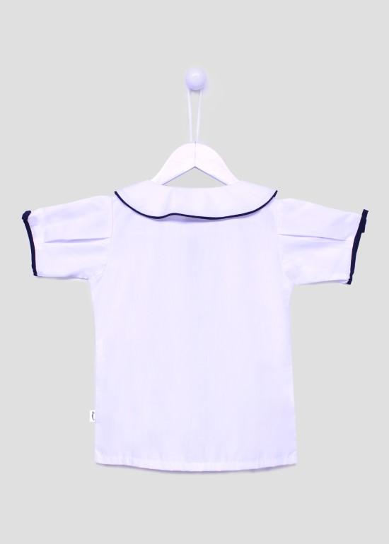 Áo SM đồng phục học sinh nữ tay nơ