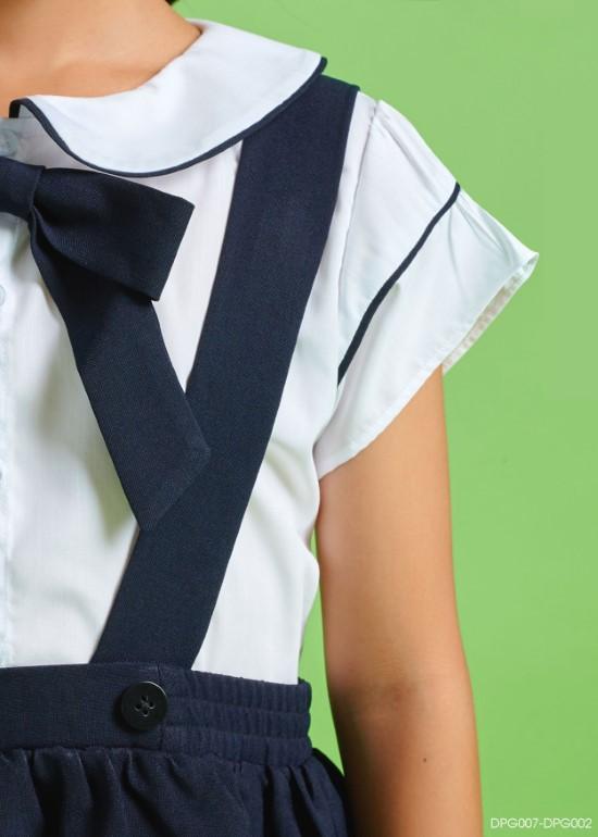 Áo sơ mi đồng phục học sinh nữ tay bèo