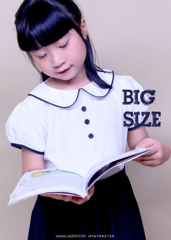 Đầm học sinh nữ cổ sen tay phồng big size