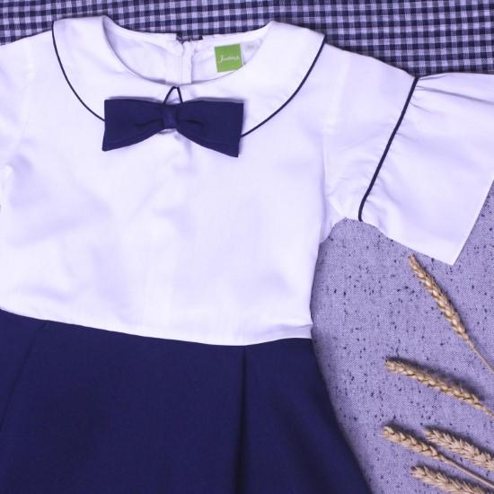Đầm học sinh tay xòe viền big size