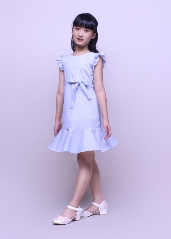 Đầm bé gái chân bèo xanh