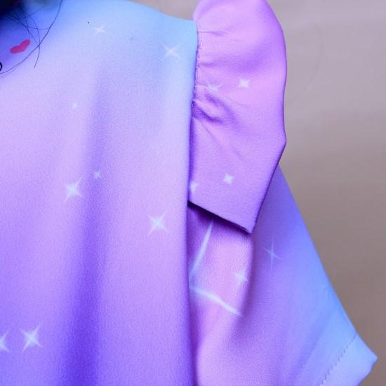 Bộ áo dài hồng pony dễ thương
