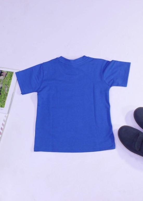 Áo thun cho bé màu xanh lam