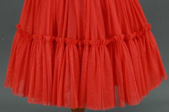 Đầm công chúa đuôi cá màu đỏ - MS158