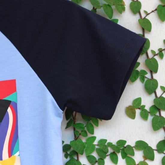 Áo thun cho bé màu xanh da trời