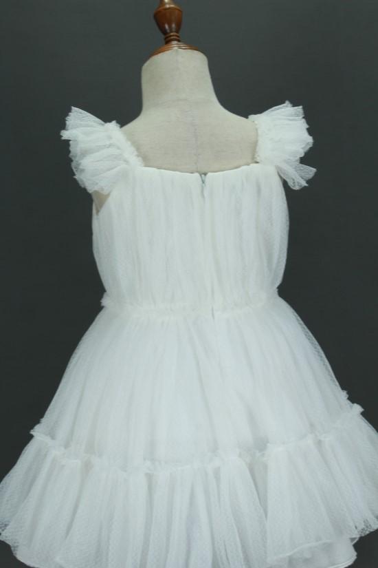 Đầm công chúa tầng màu trắng - MS92