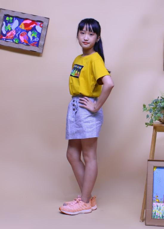 Áo thun cho bé màu vàng