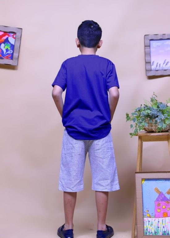 Áo thun cho bé màu xanh bích