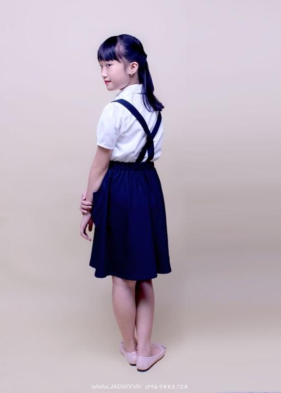 Chân váy học sinh yếm nơ trước GDP009