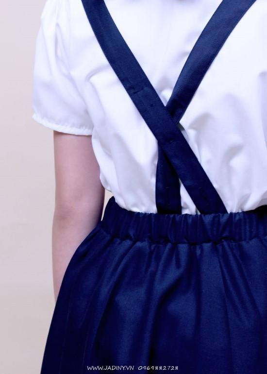 Chân váy học sinh yếm nơ trước