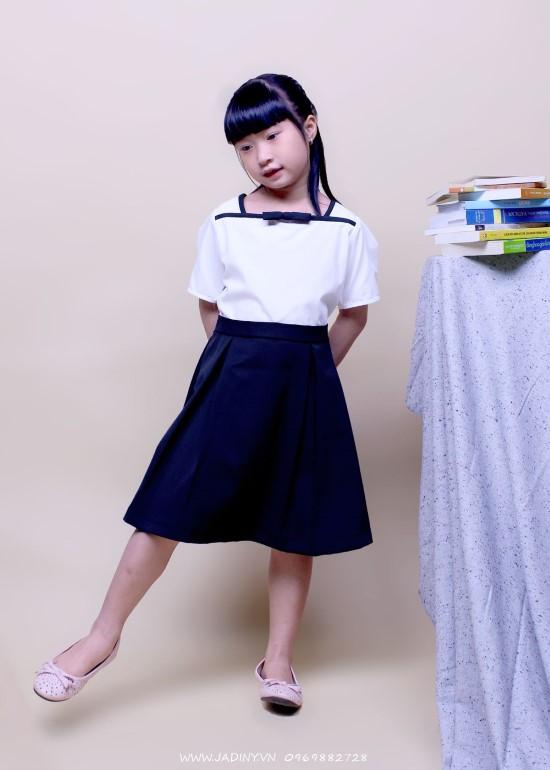 Đầm học sinh nữ cổ hải quân
