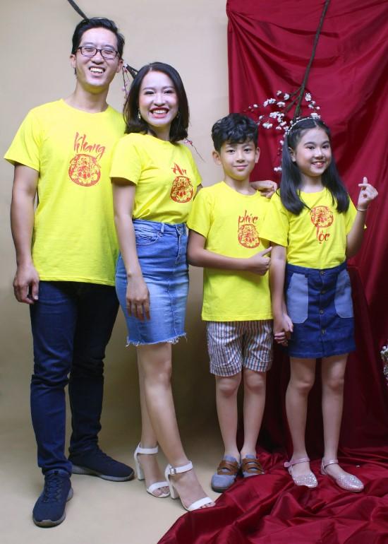 Combo áo thun vàng hạnh phúc gia đình