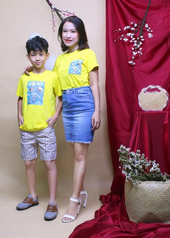 Combo áo thun hạnh phúc cho mẹ và bé trai