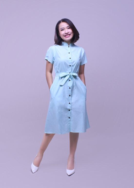Đầm nữ CLT xanh lá cây